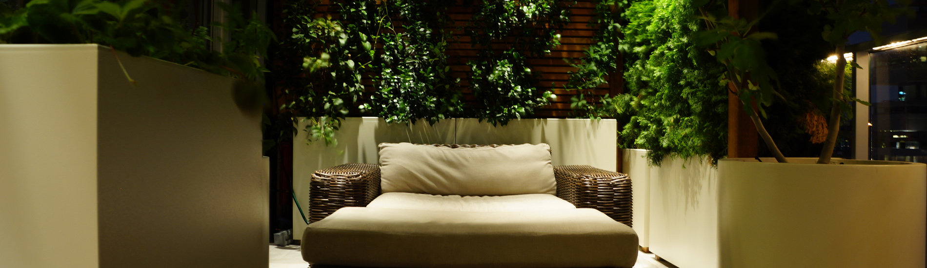 Low Voltage outdor lighting design for rooftop gardens and backyards