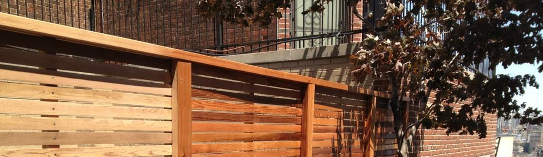 This two step process involves power washing the staining the wood.