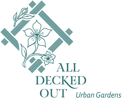 Logo for All Decked Out NYC, urban gardeners and custom deck builders in New York City